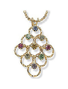 Multi-Crystal Pendant by PalmBeach Jewelry