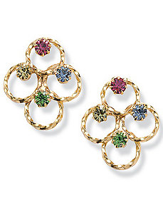 Multi-Color Crystal Earrings by PalmBeach Jewelry
