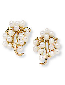 Pearl Earrings by PalmBeach Jewelry