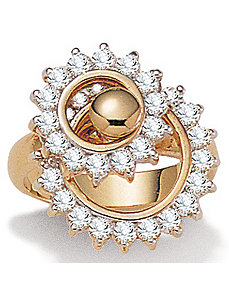 Cubic Zirconia Spinning Top Ring by PalmBeach Jewelry