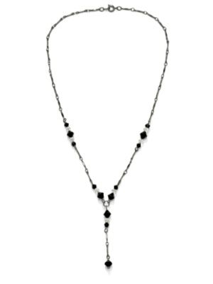 "Crystal""Y""Necklace 17"""