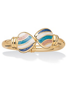 Pastel Heart Bangle Bracelet by PalmBeach Jewelry