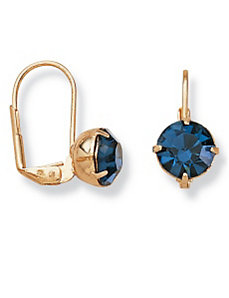 Sim. Sapphire Earrings by PalmBeach Jewelry