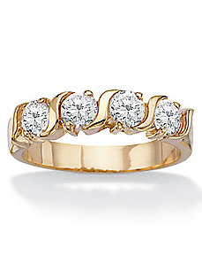 Cubic Zirconia Wedding Band by PalmBeach Jewelry
