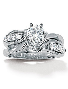 Cubic Zirconia Wedding Set by PalmBeach Jewelry