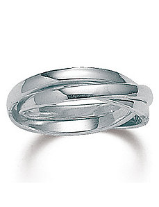Silver Rolling Ring by PalmBeach Jewelry