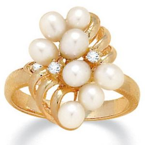 Pearl/Crystal Ring
