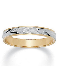 Tutone Wedding Band by PalmBeach Jewelry