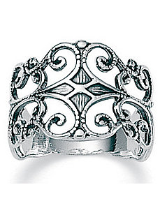 Silver Filigree Ring by PalmBeach Jewelry