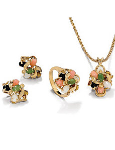 3-Piece 14k gold-plated Set by PalmBeach Jewelry