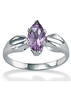 Amethyst Silver Ring by PalmBeach Jewelry