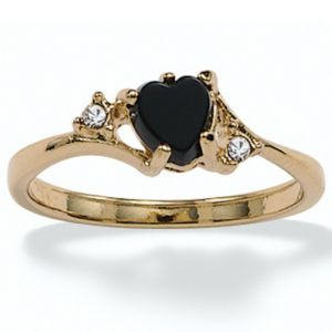 Onyx/Crystal Accents Ring