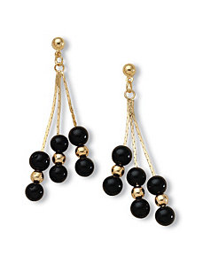 Onyx Dangle Earrings by PalmBeach Jewelry
