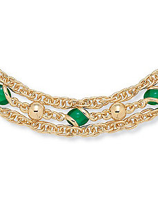 "Sim. Emerald Necklace 24"" by PalmBeach Jewelry"