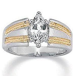 Tutonecubic zirconia Ring