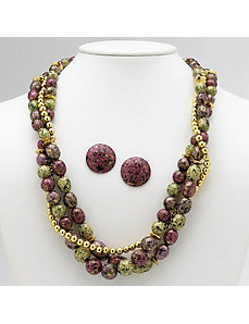 2-Piece Beaded Jewelry Set by PalmBeach Jewelry