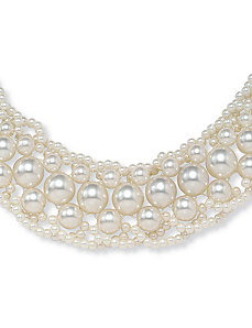Sim. Pearl Collar by PalmBeach Jewelry