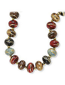 "Multi-Color Bead Necklace 30"" by PalmBeach Jewelry"