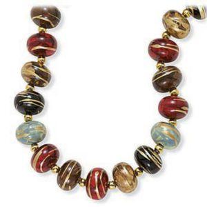 "Multi-Color Bead Necklace 30"""