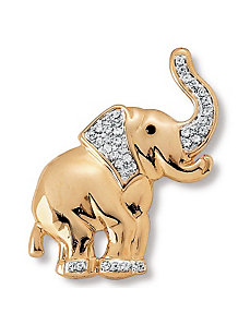 Crystal Elephant Pin by PalmBeach Jewelry