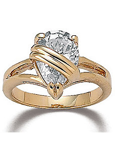 Wrappedcubic zirconia Ring by PalmBeach Jewelry