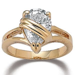 Wrappedcubic zirconia Ring