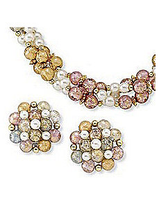 2-Piece Beaded Set by PalmBeach Jewelry