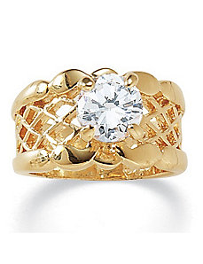 Cubic Zirconia Filigree Band by PalmBeach Jewelry