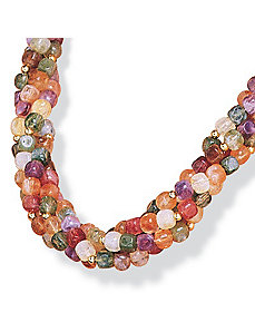 Beaded Fashion Necklace by PalmBeach Jewelry