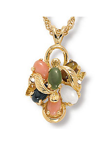 Multi-Stone Pendant by PalmBeach Jewelry