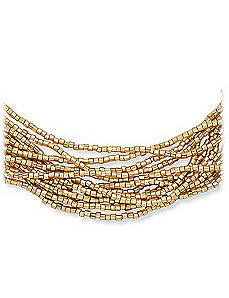 "12-Row Necklace 24"" by PalmBeach Jewelry"