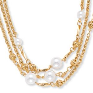 Simulated Pearl Necklace 30""