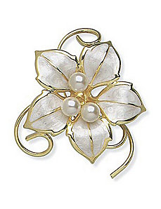 Sim. Pearl Pin by PalmBeach Jewelry