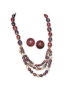 2-Piece Multi-Colored Lucite Set by PalmBeach Jewelry