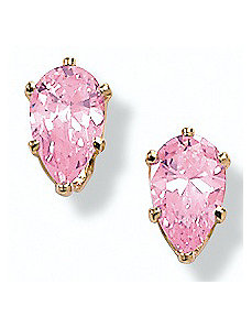 2 CT.T.W. Pink Icecubic zirconia Earrings by PalmBeach Jewelry