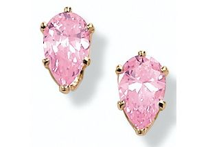 2 CT.T.W. Pink Icecubic zirconia Earrings