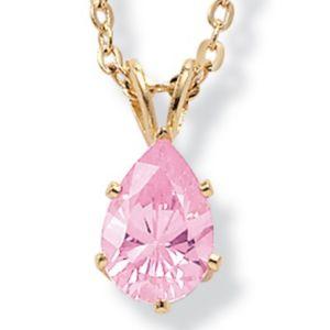 Pink Icecubic zirconia Pendant