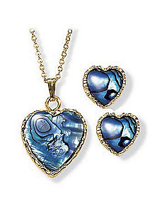 2-Piece Paua Set by PalmBeach Jewelry