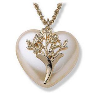 Sim. Pearl Heart Pendant