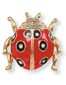 Crystal Ladybug Pin by PalmBeach Jewelry
