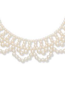 "Sim. Pearl Necklace 17"" by PalmBeach Jewelry"