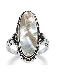 Abalone Antiqued Ring by PalmBeach Jewelry
