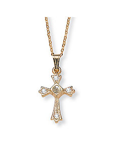 Lords Prayer Cross Pendant by PalmBeach Jewelry