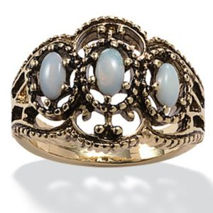 Antiqued Opal Ring