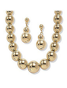 2-Piece Graduated Ball Set by PalmBeach Jewelry