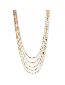 Multi-Strand Cobra-Link Necklace by PalmBeach Jewelry
