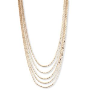 Multi-Strand Cobra-Link Necklace