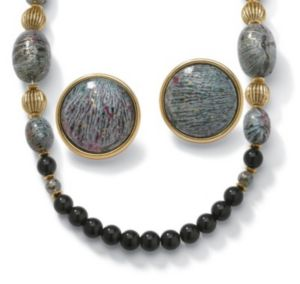 Black and Multi Beaded Jewelry Set