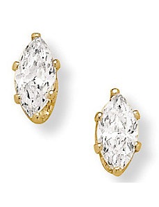 2 CT.T.W. Cubic Zirconia Clip-on Earrings by PalmBeach Jewelry