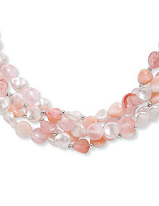 "Lucite Necklace 18"" by PalmBeach Jewelry"